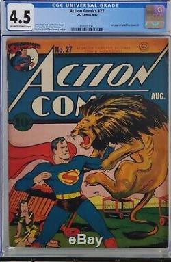 Action Comics #27 Cgc 4.5 Golden Age Superman