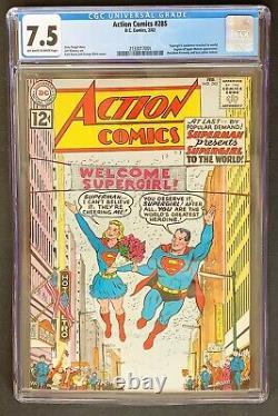 Action Comics #285 CGC 7.5 DC Comics 1962 Supergirl Legion of Super-Heroes