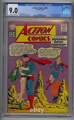 Action Comics #289 Cgc 9.0 Adult Legion Of Super-heroes App