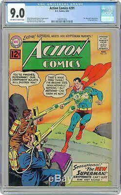 Action Comics #291 CGC 9.0 1962 1397051002