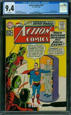 Action Comics 292 CGC 9.4 White Pages
