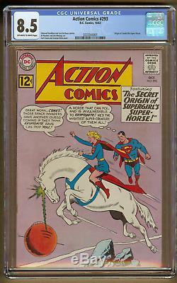 Action Comics #293 (CGC 8.5 OWithW) 1962 DC Comics Supergirl