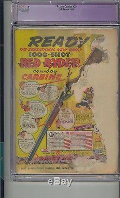 Action Comics #29 Cgc. 5 1st Lois Lane Cover Golden Age Superman