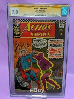 Action Comics #340 CGC 7.0 SS signed by Jim Shooter ULTRA RARE KEY ISSUE
