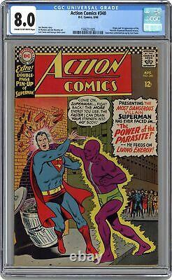 Action Comics #340 CGC 8.0 1966 1566211005 1st app. Parasite