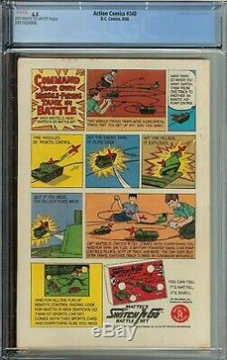 Action Comics #340 Cgc 6.5 Origin & 1st App Parasite Raymond Maxwell
