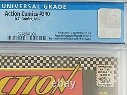 Action Comics #340! Origin & 1st appearance of Parasite. Curt Swan. CGC 6.5