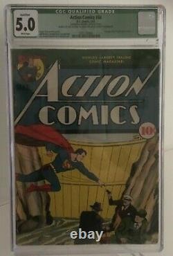 Action Comics #34, Superman, CGC Rated 5.0