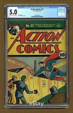 Action Comics #37 CGC 5.0 1941 1420405017