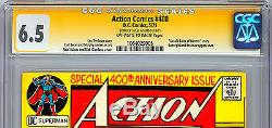 Action Comics #400 Cgc Ss 6.5 Signed By Neal Adams 400th Anniv Issue 1971