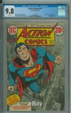 Action Comics #419 Cgc 9.8 White Pages
