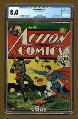 Action Comics #43 CGC 8.0 1941 1479679005
