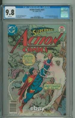Action Comics #471 Cgc 9.8 White Pages