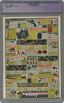 Action Comics #4 CGC 8.0 RESTORED 1938 1296321004