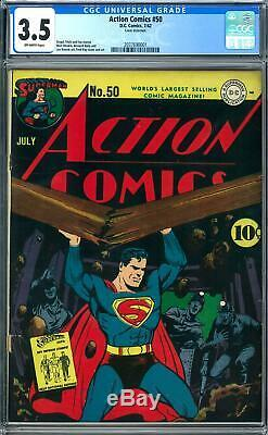 Action Comics #50 CGC 3.5 (OW) Fred Ray Cover Art