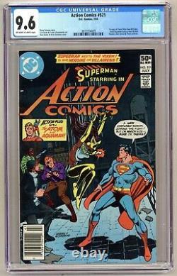 Action Comics 521 (CGC 9.6) 1st app Vixen Andru cover Swan art Newsstand B188