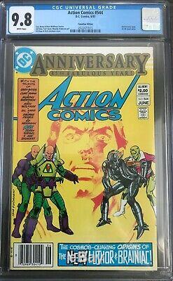 Action Comics #544 CGC 9.8 1st Lex Luthor battle armor & new Brainiac