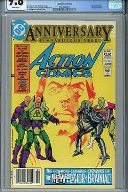 Action Comics #544 CGC 9.8 Canadian Price Variant