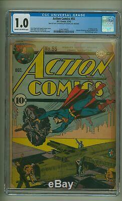 Action Comics #55 CGC 1.0 World War II Cover