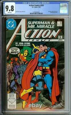 Action Comics #593 Cgc 9.8 White Pages // Mister Miracle + Darkseid App 1987