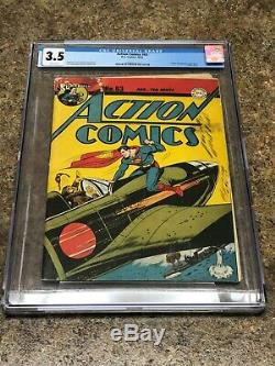 Action Comics 63 CGC 3.5 WHITE Pages
