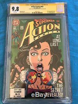 Action Comics #662 DC CGC SS 9.8 Signed by Stern, Breeding Superman