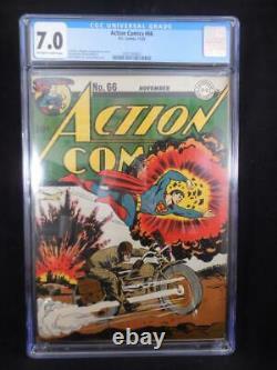 Action Comics #66 CGC 7.0 Jack Burnley Cover