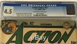 Action Comics #67 CGC 4.5