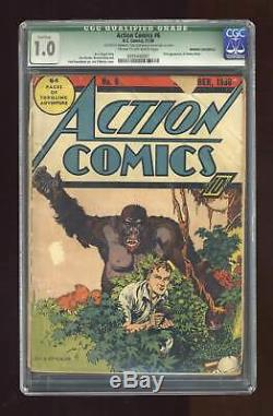 Action Comics #6 CGC 1.0 QUALIFIED 1938 0095446001 1st app. Jimmy Olsen