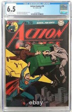 Action Comics #70 Cgc 6.5mar 1944 Dcsafe Robbersuperman1st App Thinker