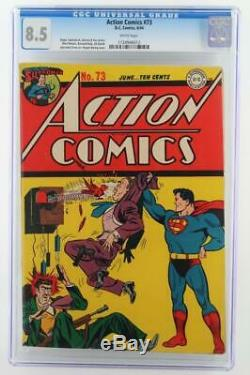 Action Comics #73 DC 1944 -HIGH GRADE- CGC 8.5 VF+ Superman 2nd HIGHEST GRADE