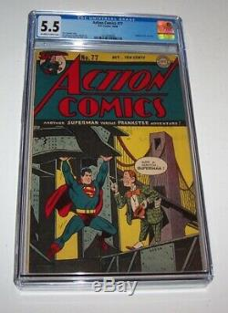 Action Comics #77 DC 1944 Golden Age CGC FN- 5.5 Prankster cover & story