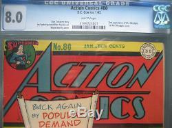 Action Comics #80 CGC 8.0 WP 1945 1st app Mr. Mxyztplk Cover
