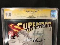 Action Comics #812 2nd Print Sketch CGC SS 9.8 3x Signed by Michael Turner