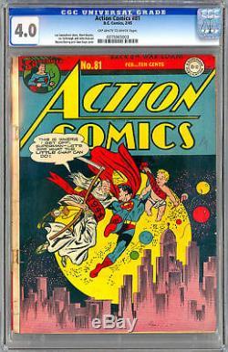 Action Comics #81 Cgc 4.0 Yarbrough Boring Kaye 1945