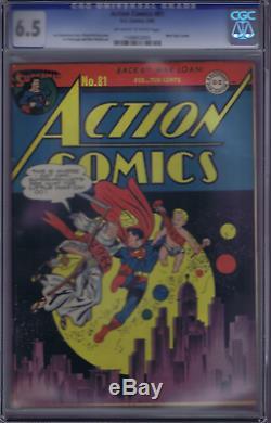 Action Comics #81 DC 1945, CGC 6.5 (FINE +)