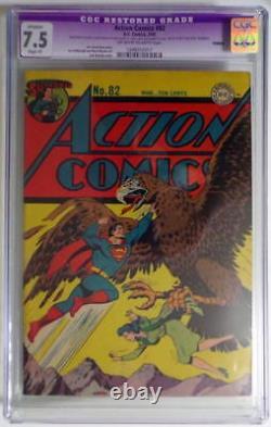 Action Comics #82 Cgc 7.5 Superman 1945