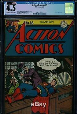 Action Comics #85 CGC 4.5 CVA Certified Exceptional