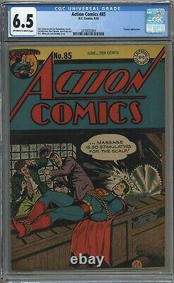 Action Comics #85 Cgc 6.5 Off-white To White Pages 1945