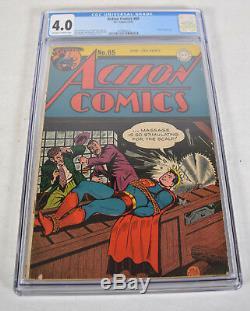 Action Comics 85 DC 1945 CGC 4.0 Superman Toyman Saw Rope Bondage