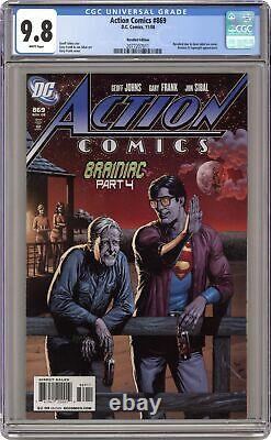 Action Comics #869B Recalled Beer Variant CGC 9.8 2008 2077207011