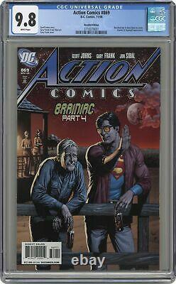 Action Comics #869B Recalled Beer Variant CGC 9.8 2008 3716379001