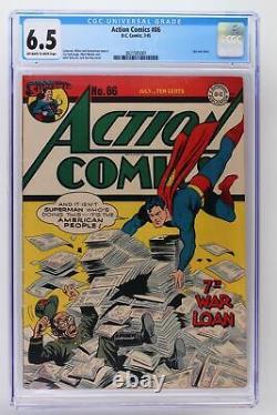 Action Comics #86 DC 1945 CGC 6.5 -Superman- Last war cover