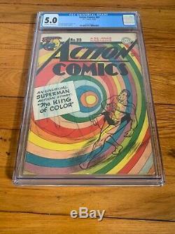 Action Comics #89 (1945) DC Comics CGC 5.0 Superman Iconic Cover