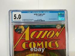Action Comics #97 CGC 5.0 DC Superman 1946 Golden Age Book