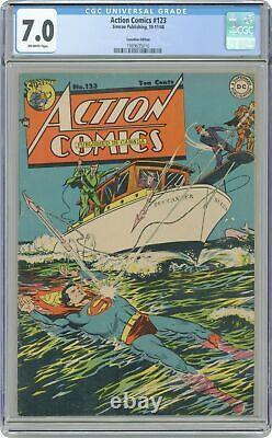 Action Comics Canadian #123 CGC 7.0 1948 1989635016