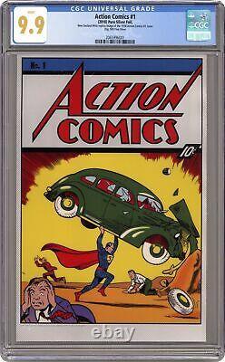 Action Comics Silver Foil Replica Cover New Zealand Mint #1 CGC 9.9 2018