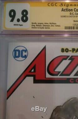Action comics 1000 Sketch cover Cgc 9.8 Original Art by Sajad Shah SS series