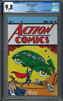 Action comics #1 Loot Crate reprint cgc 9.8 superman #1 8 bit Waite variant lot