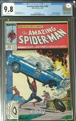 Amazing Spider-Man #306 (Marvel 1988) CGC 9.8 NM/MT Action Comics #1 Homage cvr